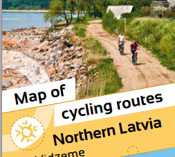 New Vidzeme (North Latvia) cycling maps in 8 languages, Vidzeme Tourism Association